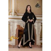 Abaya, pants and scarf, black Abaya