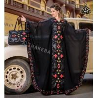 Abaya, scarf, bag and dressing robe